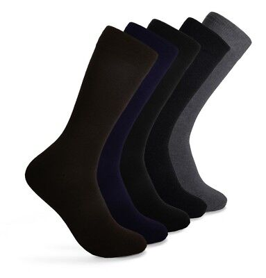 Men's Crew Cotton Socks for Every Occasion Work | Size 10-13 | Lot 5 Pairs |