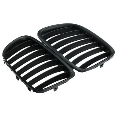 Fit For BMW E84 X1 M Matte Black Kidney Sport Hood Grill SUV 10-15 Durable