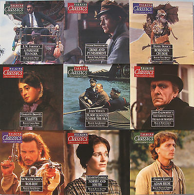 TALKING CLASSIC NOVELS x 15 TITLES 46 TO 60 ON TWIN CD'S PLUS MAGAZINES & BINDER