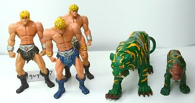 MOTU, He-Man & Battle Cat figures lot, 200x, Masters of the Universe, parts