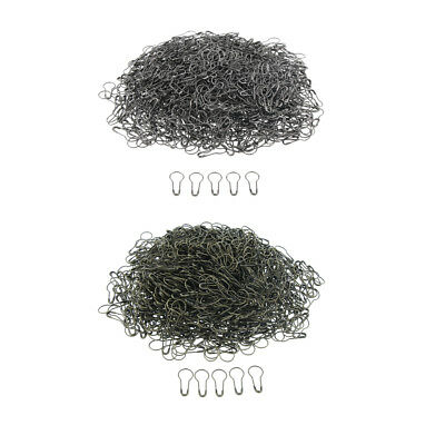 1000x Metal Calabash Shape Safety Pin Pear Gourd Coilless Tag Fastener Pin