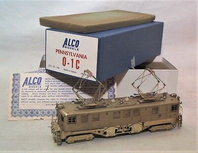 Alco Models Japan Import Brass Ho Powered Prr 0-1C Electric Locomotive In Ob