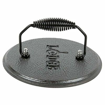 Cast Iron Bacon Round Grill Press & Pan Press Handle Vintage Cooking Cookware