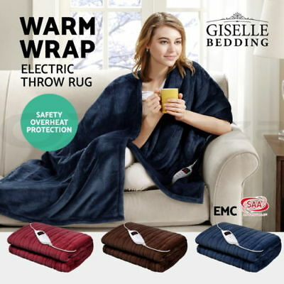 Aikeremu Bedding Washable Heated Electric Blanket Fully Fitted Polyester 5 Size
