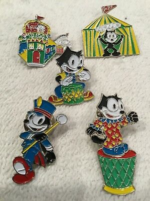 FELIX The CAT Hat / Lapel Pin Lot of 5 Circus, Fun House , Parade