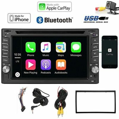 """6.2"""" 2din Capacitive Touchscreen Apple CarPlay Receiver DVD Player Bluetooth Usb"""