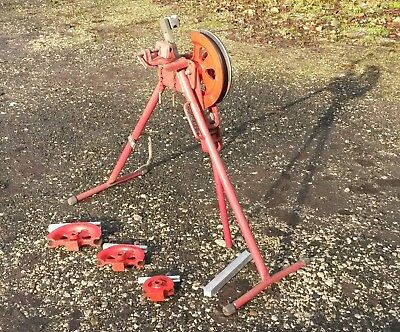 Record copper pipe bender 35mm 28mm 22mm and 15mm with vice formers tube hilmor