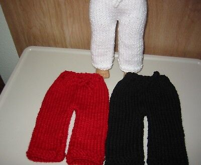 "Knit American Clothes White Black Red Sweater Pants Fit 18"" Girl Doll My Life"