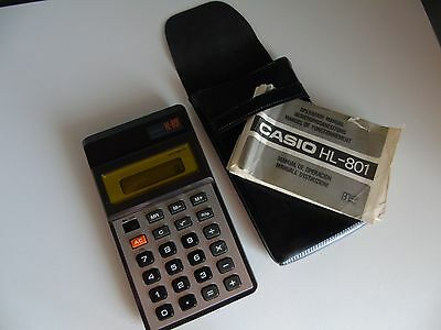CASIO HL-801  Vintage electronic calculator año 1979 made in japan