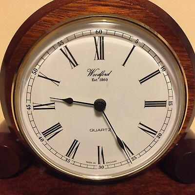 Solid Mahogany Woodford Mantle Clock,excellent Condition.