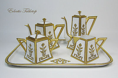 Limoges Tea Coffee Set Art Deco - 8 Piece