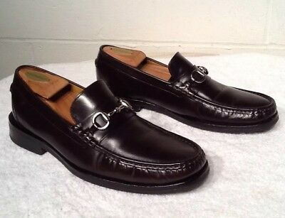 3365fbe8e84 Cole Haan NIKEAIR Slip On Horse-Bit Dress Loafers Mens Sz 10.5M Brown  Leather