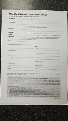 Un Furnished Tenancy Agreement Will Post 1St Class Very Easy To Complete