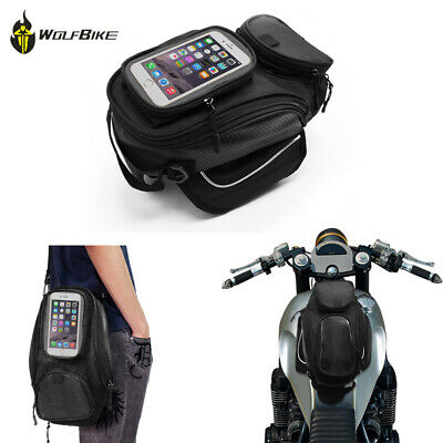 Waterproof Magnetic Motorcycle Tank Bag Motorbike Oil Fuel Saddle Bag Phone Bag