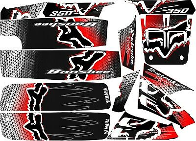 yamaha banshee full graphics kit fox