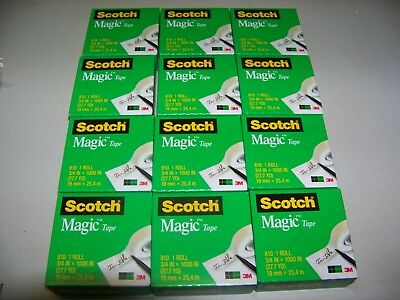 Scotch Magic Tape Refill, 3/4 x 1000 Inches, 12 Rolls -- **PRIORITY SHIPPING**