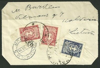Lithuania 1929 Stamped Cover Kalvarija to Stockholm/Sweden # An133