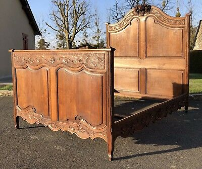 Stunning Antique French Louis XV Double Bed Frame Beautifully Carved