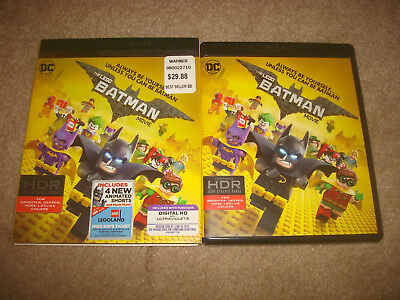 The LEGO Batman Movie 4K Ultra HD + Blu-ray 2017 2-Disc Set Slipcover DC Comics
