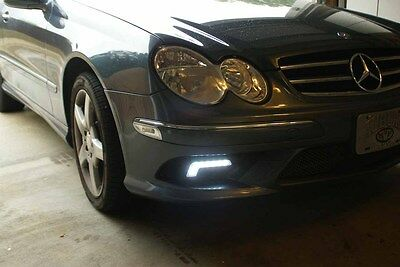24bfacc9f484 2 Day Running Lights Daylights Mercedes Style Luci Diurne Super Power A++  Led