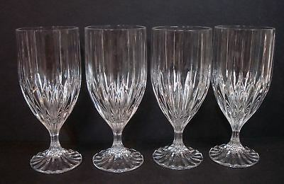 "Mikasa Crystal ~ PARK LANE ~  Iced Tea Goblet ~ 7-1/4"" Tall ~ Set of 4"