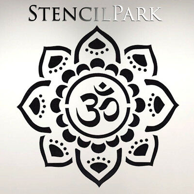 Mandala Hindu Ornament Craft Stencil Walls Furniture A5 A4 A3 216