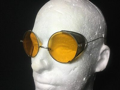 True Authentic Vintage Steam Punk Glasses. Metal Spring Arms Retro Cool Cosplay