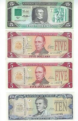 Liberia From A Collection  8 Pcs All Different Dates All Obolete  Unc
