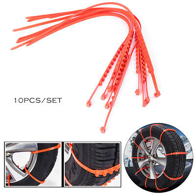 10Pcs Winter Anti-skid Chains for Car Snow Mud Wheel Tyre Thickened Tire Tendon