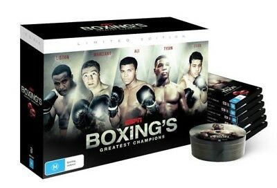 BRAND NEW ESPN - Boxing's Greatest Champions Boxset (DVD, 10-Disc Set)