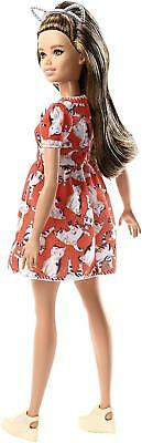 Barbie FJF57 Fashion And Beauty Fashionistas Doll-Kitty Dress-Petite With Long