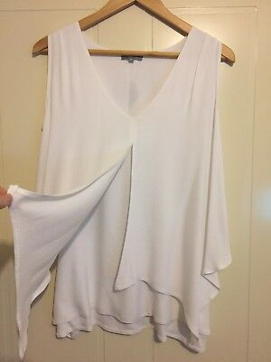 Womens nursing / breastfeeding top in White. Available in S , M , L , XL