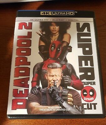 Deadpool 2 Super Duper Cut 4K Ultra HD + Blu-Ray NO DIGITAL!