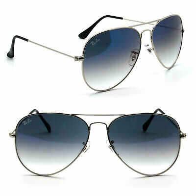 62mm Ray Ban Aviator New Sunglasses For Women And Men Blue Gradient Lens Rb3025