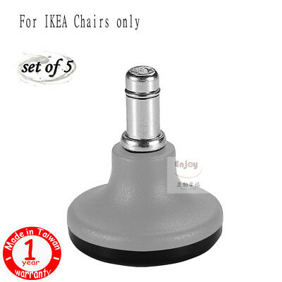 ENJOY caster SAFE FOR ELDERS series chair static bell glides fit IKEA Chair-Grey