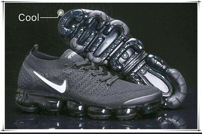 cbc9ee226b854 NIKE AIR VAPORMAX Flyknit 2 Men Running Shoes ( Black  Dark Grey ...