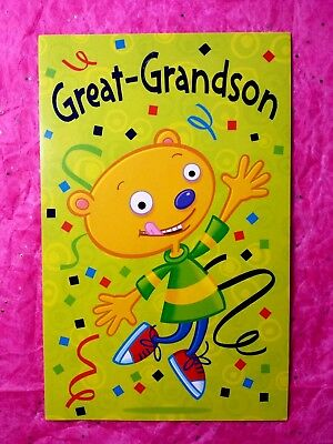 Happy Birthday Great Grandson Greeting Card With FREE Envelope Child Youth Boy