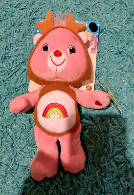 """Care Bears 8"""" Cheer Bear Reindeer Holiday Special Edition Christmas Collection"""
