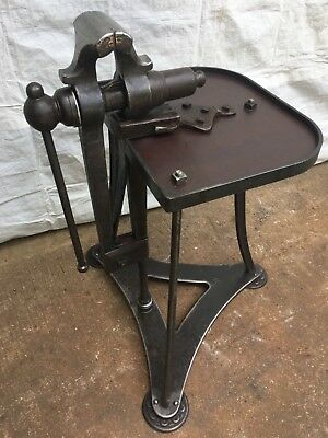 """Reduced"" Blacksmith post leg vise stand"" English style"""