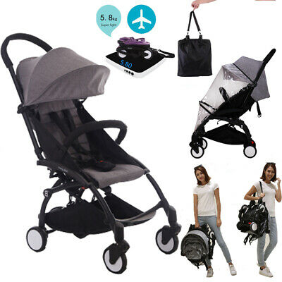 Compact Lightweight Mini Baby Stroller Pram Easy Folding Travel Carry Pushchair