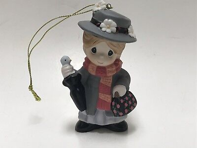 Disney Precious Moments Parks Mary Poppins Christmas Porcelain Ornament In Box