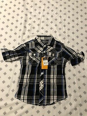 Gioberti Boys Button Down Shirt Size 3T Brand New With Tags