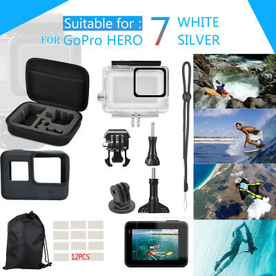 For GoPro Hero7 White/Silver Waterproof Case Diving Protective Housing Shell HOT