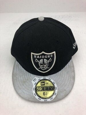 89717a9a23ca64 NEW Oakland Raiders NFL New Era 59FIFTY Fitted 6 3/4 Youth Kids Cap Hat