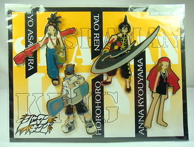 Japanese Anime JUNP FESTA 2001 Shaman King Figure PINS SET Badge
