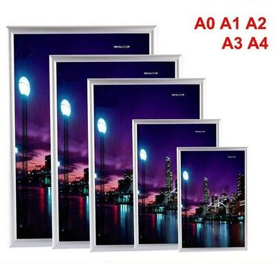 A0 A1 A2 A3 A4 Aluminum Wall Poster Frame Snap Clip Sign Holder Picture Display