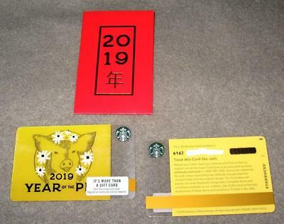 *starbucks 2019 Lunar New Year Of The Pig Dash Mark Back Gift Card Sleeve #6162