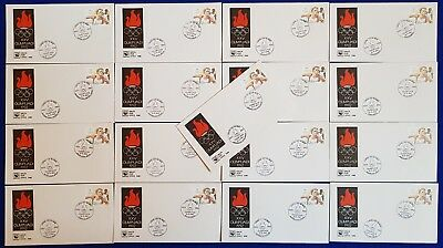 1992 Malta 17 DIFF. VILLAGE/TOWN Special Hand Cancels Olympic Games Barcelona #2