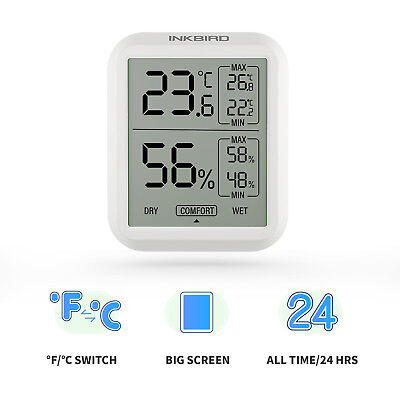 Inkbird Bluetooth Temp and Humidity Sensor Data Logger Thermometer Recorder F/C