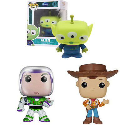 Funko Pop! Toy Story Anniversary Buzz Lightyear Alien Woody Vinyl Figure New Toy